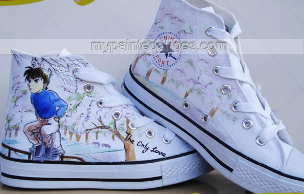 Detective Conan Painted Shoes Custom Detective Conan Hand Painte-3