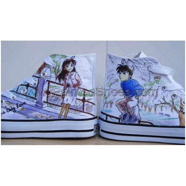 Detective Conan Painted Shoes Custom Detective Conan Hand Painte