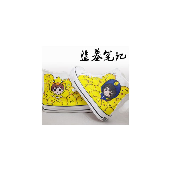 The Note Of Ghoul Anime High-top Painted Canvas Shoes