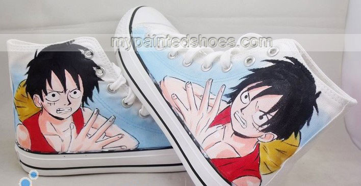 one piece shoes anime one piece anime canvas shoes High-top Pain-2