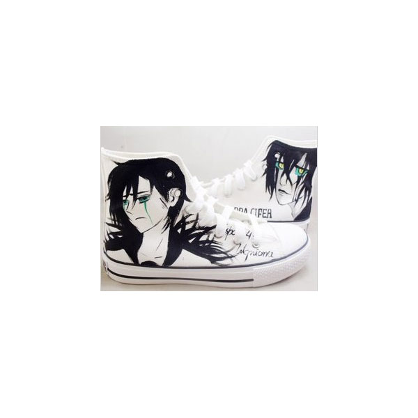 bleach hand painted shoes custom bleach High-top Painted Canvas
