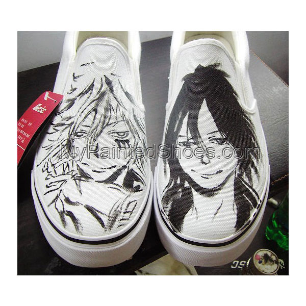 Hitman Reborn Shoes Custom Hitman Reborn Slip-on Painted Canvas