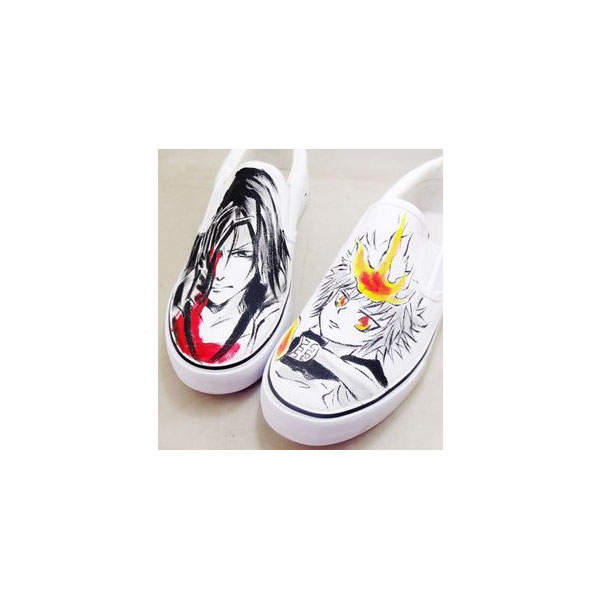 Hitman Reborn Shoes Custom Hitman Reborn Painted Shoes