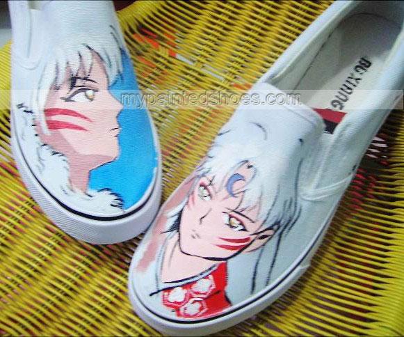 InuYasha Shoes InuYasha Anime Shoes Slip-on Painted Canvas Shoes-2