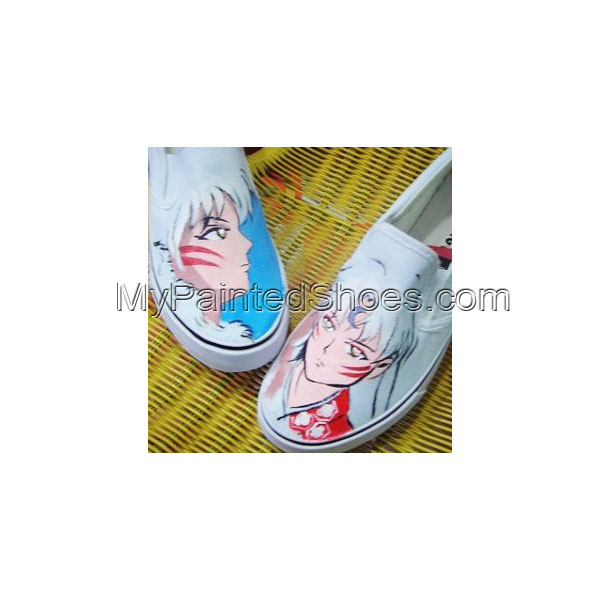 InuYasha Shoes InuYasha Anime Shoes Slip-on Painted Canvas Shoes