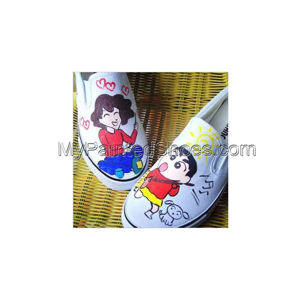 Crayon Shin-chan Slip-on Painted Canvas Shoes