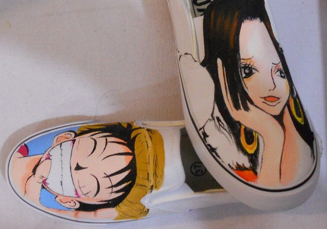 one piece painted shoes custom one piece painted shoes-1