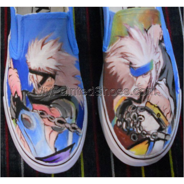 anime design shoes anime custom anime Slip-on Painted Canvas Sho
