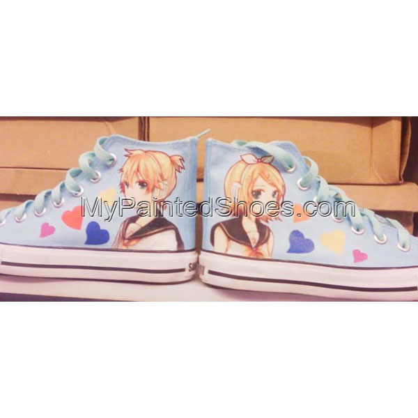 Kagamine Rin Len Vocaloid Anime Shoes Custom vocaloid Shoes