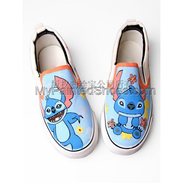 Lilo and Stitch shoes Lilo and Stitch hand painted on shoes