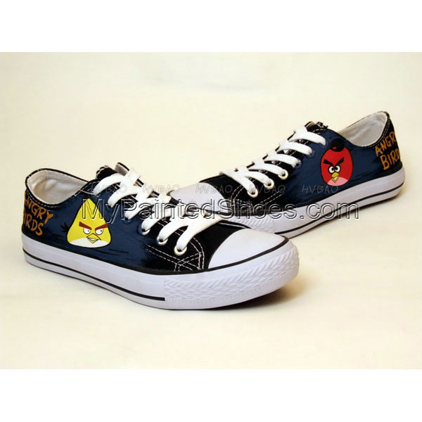 88bbd40c80 Angry Birds Hand Painted On Shoes Angry Birds Hand Custom Shoes