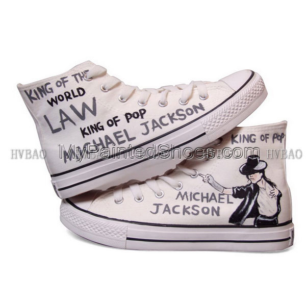 Michael Jackson Shoes Michael Jackson High-top Shoes painted sho