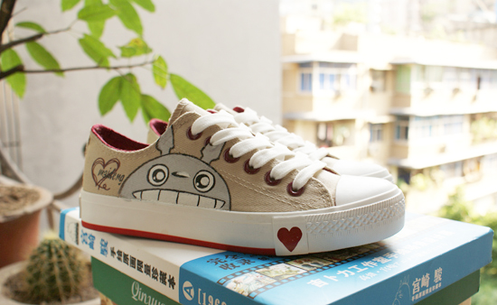 Totoro Shoes painted Totoro Shoes My Neighbor Totoro Shoes for k-1