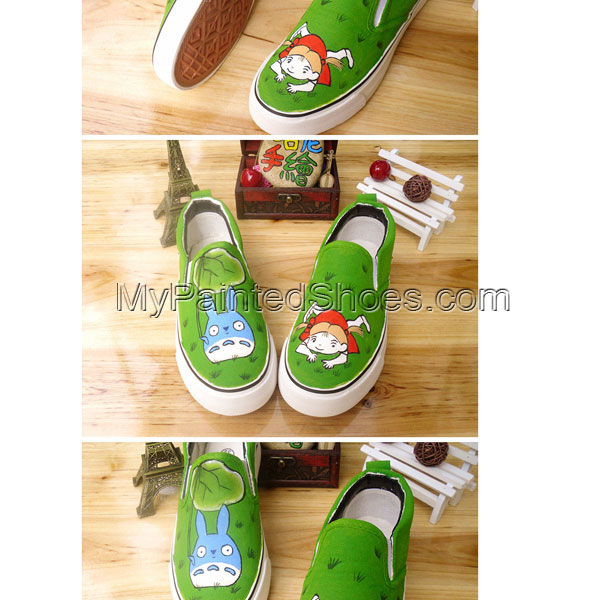 Totoro Shoes painted Totoro Shoes My Neighbor Totoro Shoes
