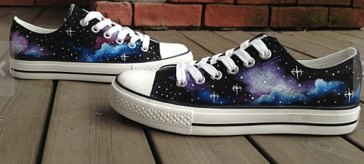 Galactic nebula Shoes Galaxy Shoes Galaxy Low-top Painted Canvas-1