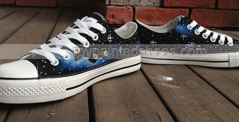 Galactic nebula Shoes Galaxy Shoes Galaxy Low-top Painted Canvas-2