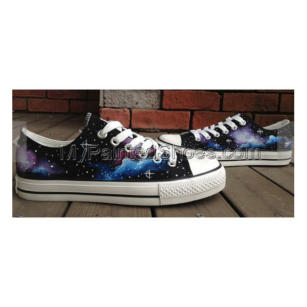 Galactic nebula Shoes Galaxy Shoes Galaxy Low-top Painted Canvas