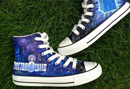 Doctor Who Shoes hand painted shoes Doctor Who Shoes custom pain-1