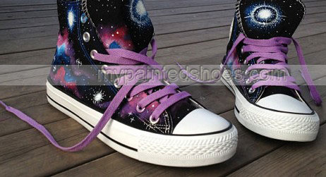 Galaxy Nebula Shoes 2013 Galaxy Shoes Hand Painted Galaxy Shoes -2