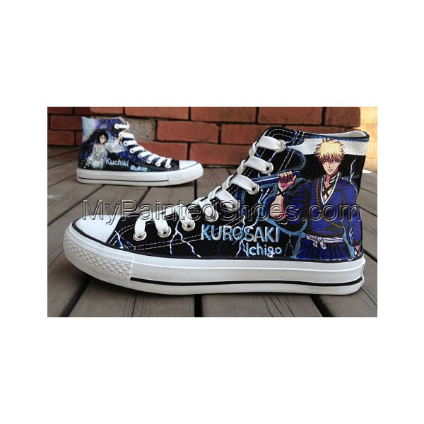 Anime Bleach Ichigo Shoes Bleach anime hand painted shoes sneake