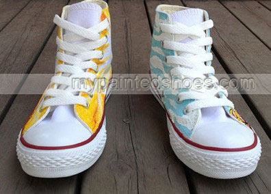 Anime Shoes Adventure Time shoes kids shoes paint canvas shoes-2