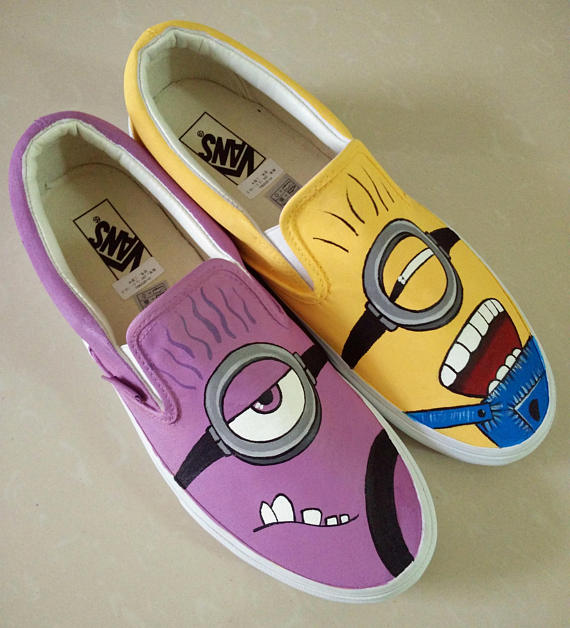 524aeb446a minion vans shoes Despicable Me Unicorn Custom Painted Shoes van