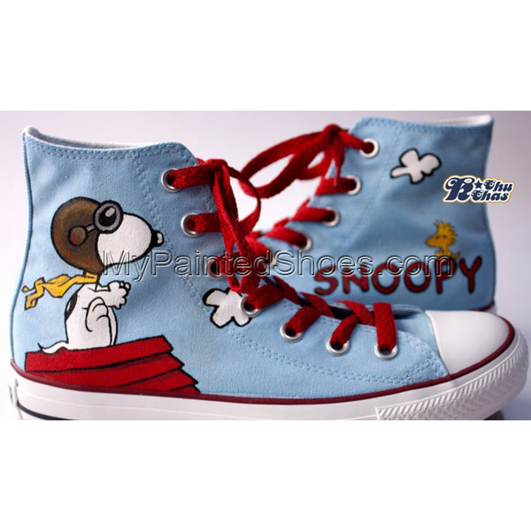 snoopy shoes snoopy hand painted shoes snoopy High-top Painted C