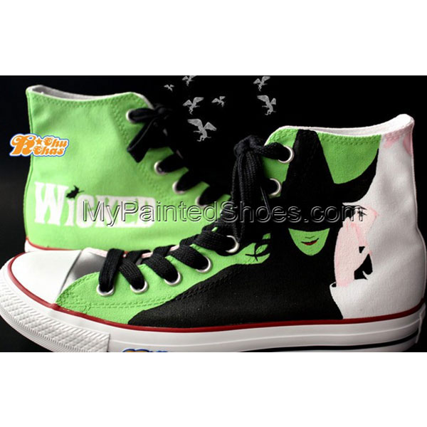 Wicked Shoes Wicked High-top Painted Canvas Shoes