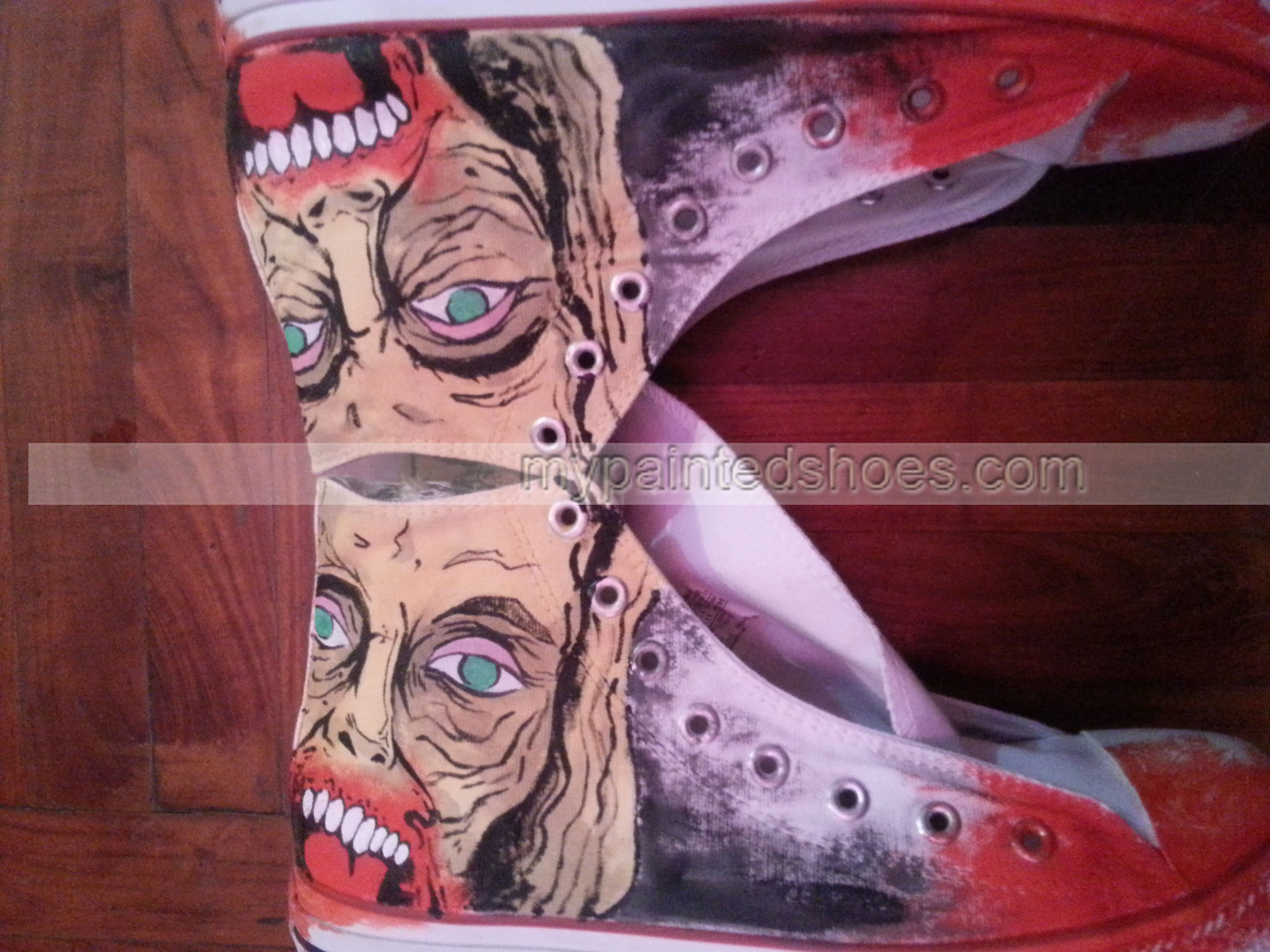 The Walking Dead Shoes The Walking Dead High-top Painted Canvas-1