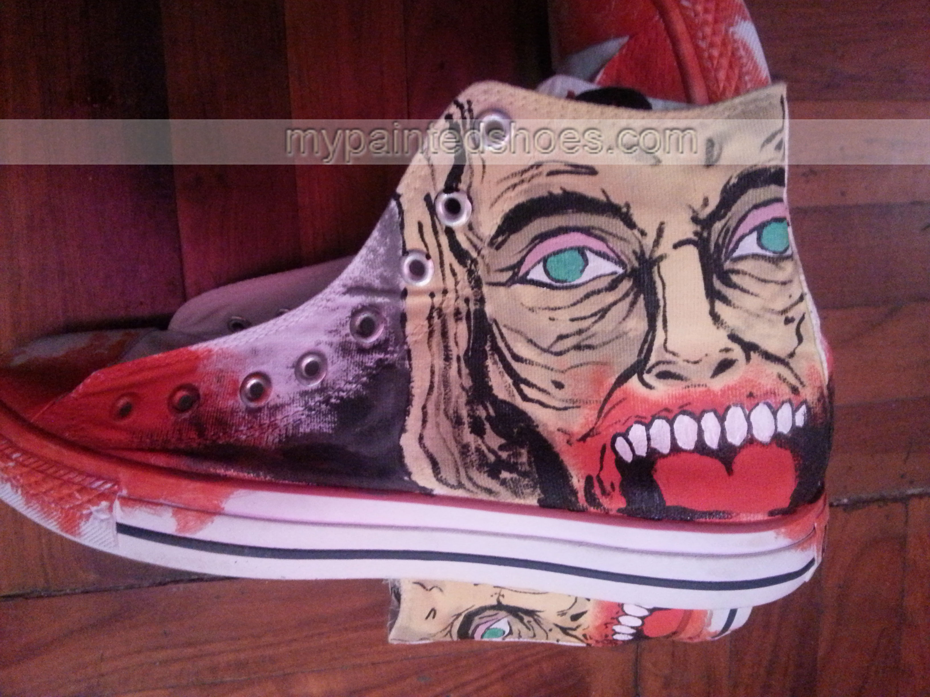 The Walking Dead Shoes The Walking Dead High-top Painted Canvas-2