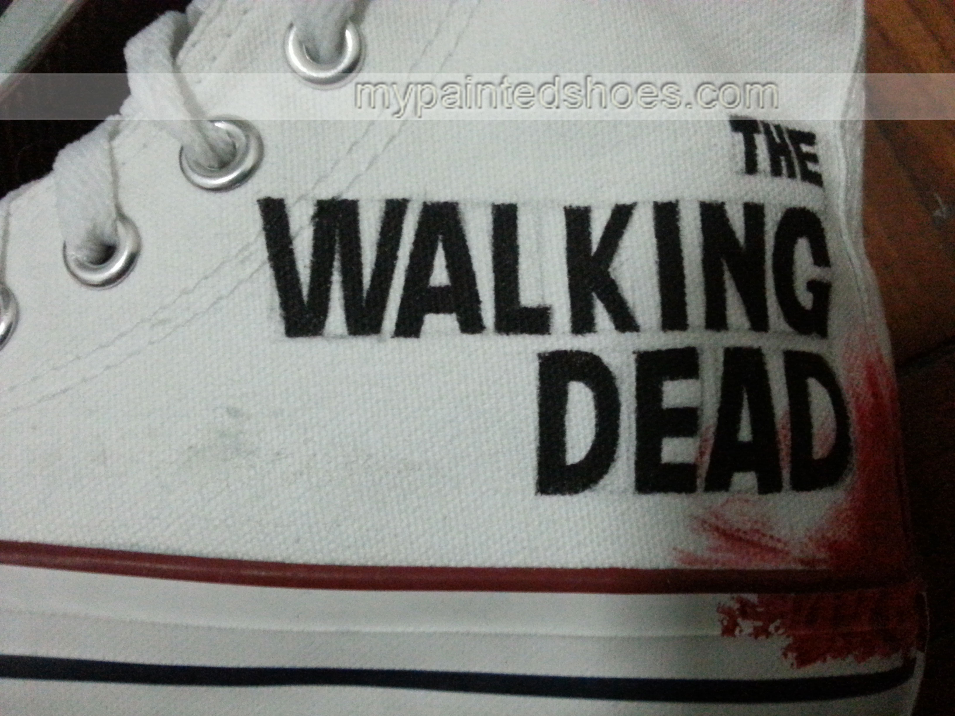 The Walking Dead Shoes The Walking Dead High-top Painted Canvas-3
