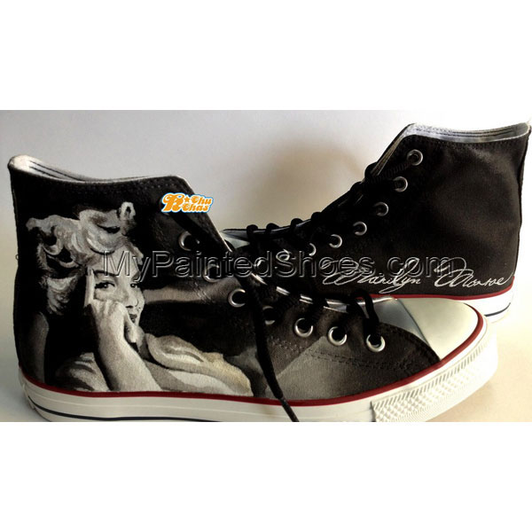 Marilyn Monroe Shoes Marilyn Monroe High-top Painted Canvas Shoe