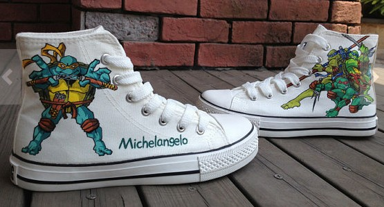 Teenage Mutant Ninja Turtles Shoes High-top Painted Canvas Shoes-1