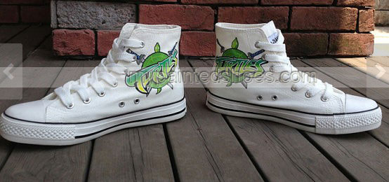 Teenage Mutant Ninja Turtles Shoes High-top Painted Canvas Shoes-2