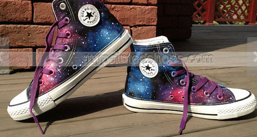 New Galaxy Shoes 2013 Galaxy Shoes High-top Painted Canvas Shoes-2
