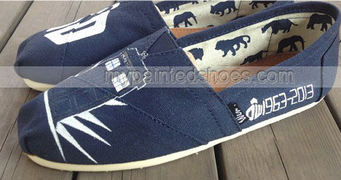 Doctor who 50th Anniversary Shoes Doctor Who Shoes Slip-on Paint-2