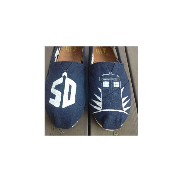 Doctor who 50th Anniversary Shoes Doctor Who Shoes Slip-on Paint