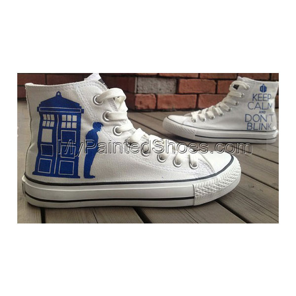 New Doctor Shoes Doctor Who Shoes High-top Painted Canvas Shoes