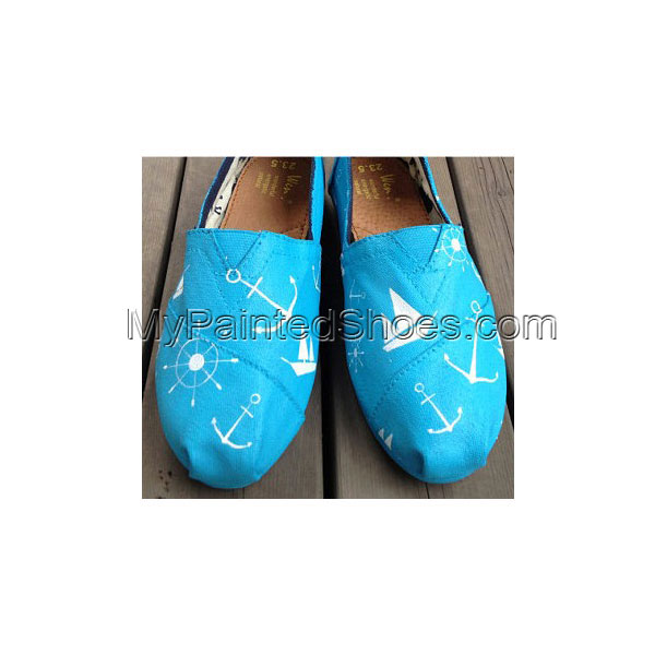 Christmas Gifts Nautical Boat Anchor Rudder Sailboat Slip-on Pai