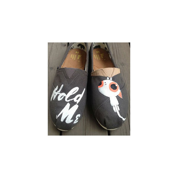 Christmas gifts Hold Me Pet Shoes Slip-on Painted Canvas Shoes
