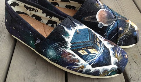 Doctor Doctor Who Shoes Galaxy shoes Slip-on Painted Canvas Shoe-1