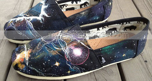 Doctor Doctor Who Shoes Galaxy shoes Slip-on Painted Canvas Shoe-2
