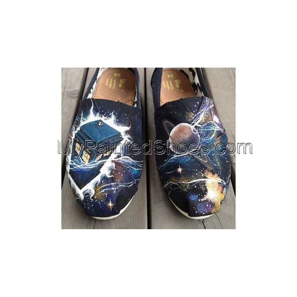 Doctor Doctor Who Shoes Galaxy shoes Slip-on Painted Canvas Shoe