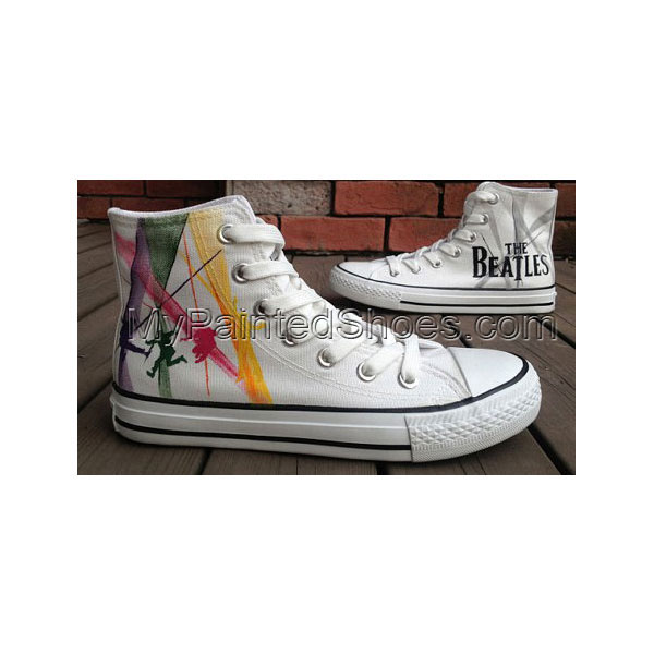New The Beatles Shoes High-top Painted Canvas Shoes