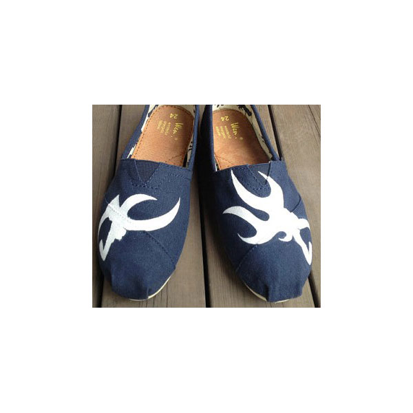 Couple Antlers 2013 New Style Antlers Shoes Slip-on Painted Canv