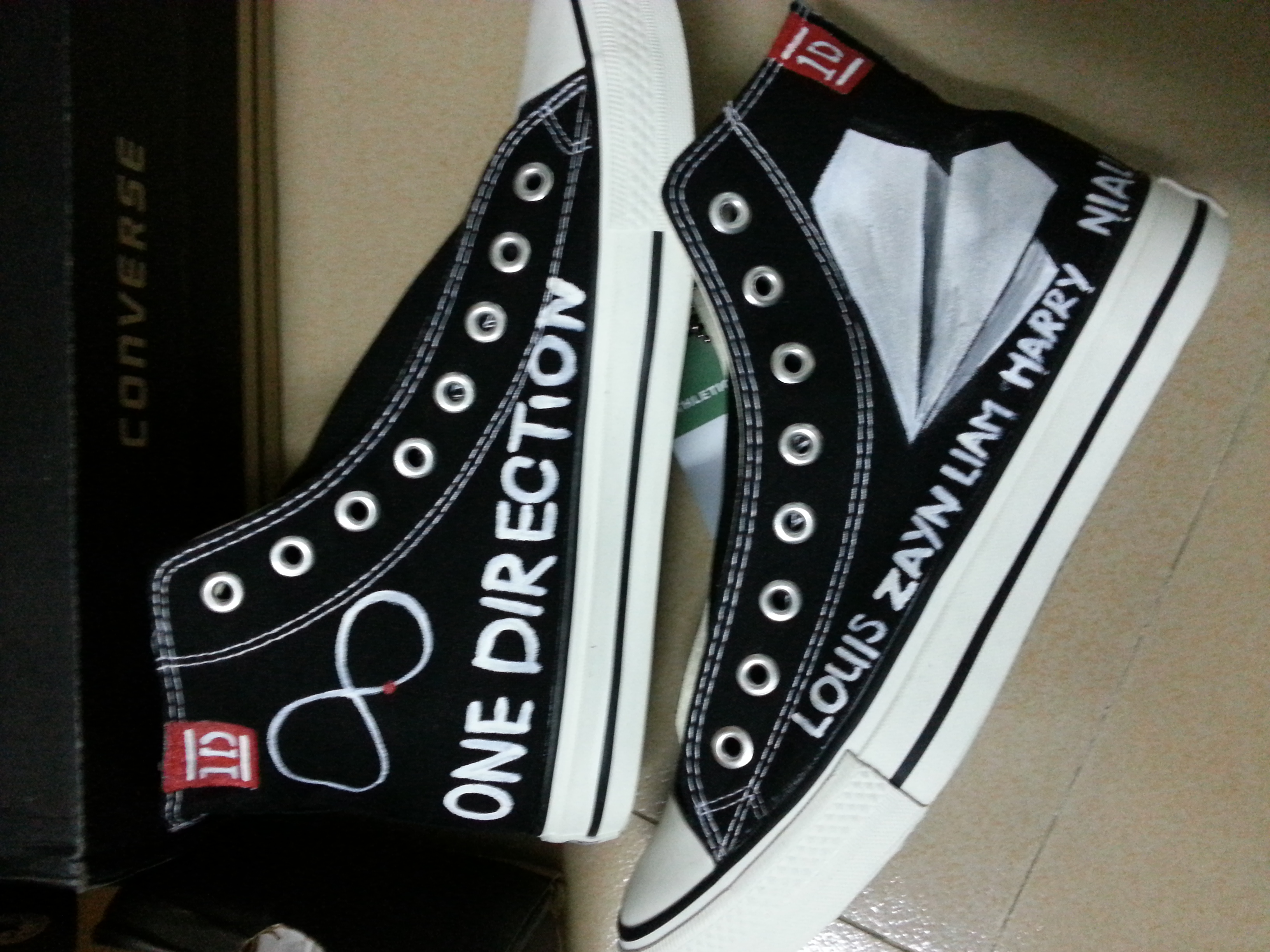 One Direction Shoes High-top Painted Canvas Shoes-2