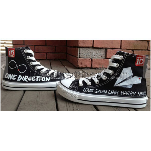 One Direction Shoes High-top Painted Canvas Shoes