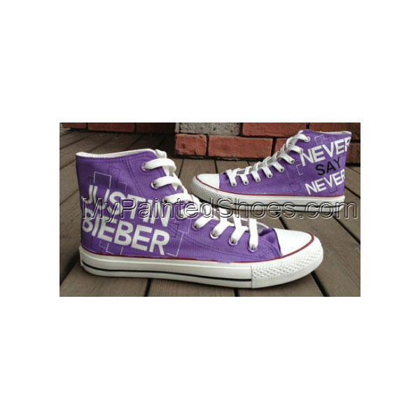 Justin Bieber Shoes Hand Painted Shoes High-top Painted Canvas S