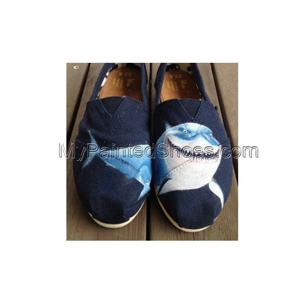 Shark Shoes shark Painted Canvas Shoes Slip-on Painted Canvas Sh