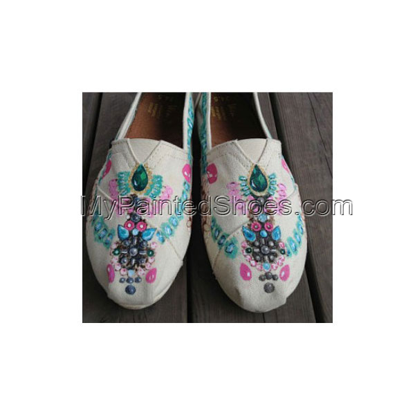 Jewelry Shoes Luxury Jewelry Feet Jewellery Shoes Slip-on Painte